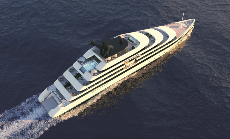 Rendering of Emerald Waterways' first yacht, Emerald Azzurra