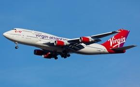 Virgin Atlantic Boeing 747 landing at JFK Airport