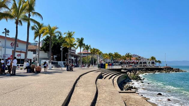 Malecon boardwalk in Puerto Vallarta