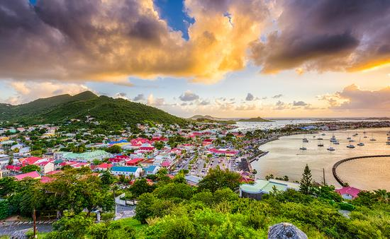 PHOTO: Marigot, Saint Martin town skyline in the Caribbean. (photo via SeanPavonePhoto /iStock / Getty Images Plus)