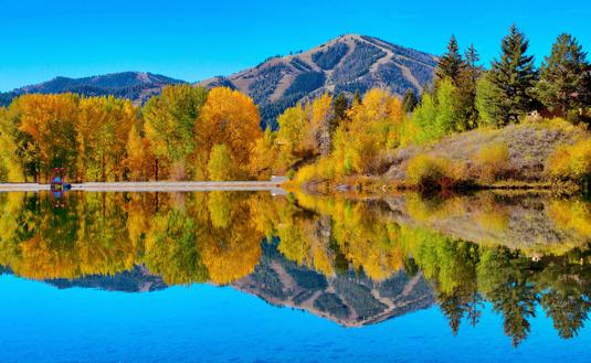 Fall reflections in Sun Valley, Idaho