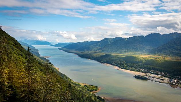 Mountain landscape in Juneau, Alaska