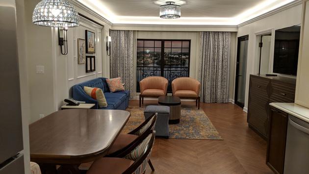 Living area at Disney's Riviera Resort