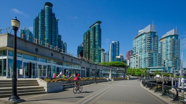 The waterfront in Vancouver, British Columbia