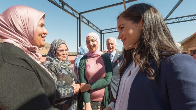 Moroccan Woman and Meghan Markle