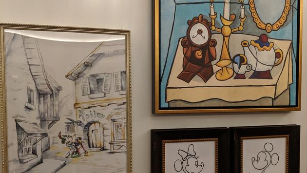 Wall art at Disney's Riviera Resort