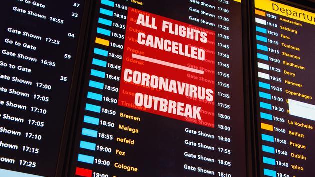 All flights canceled due to Coronavirus outbreak.