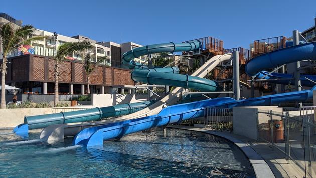 Water slides at Hard Rock Hotel Los Cabos