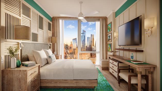 Guestroom at Margaritaville Resort Times Square