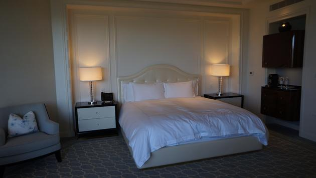 Guest room at the Waldorf Astoria Beverly Hills