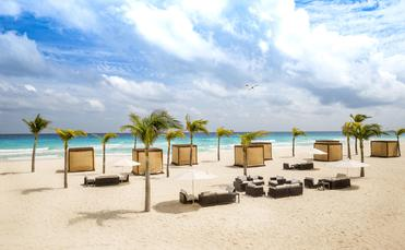 The beach at Le Blanc Spa Resort