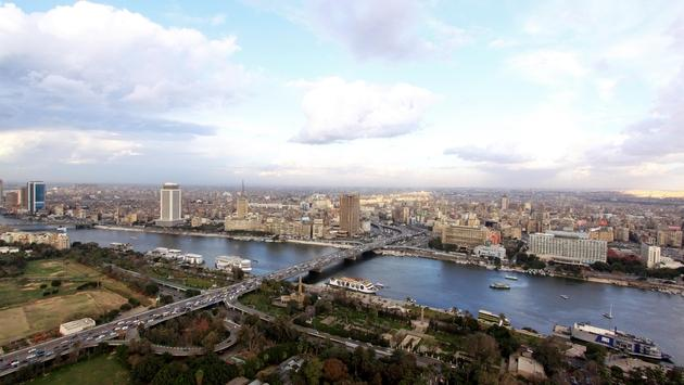 Afternoon cityscape of Cairo, Egypt