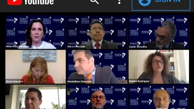 """Seminario virtual """"El futuro del turismo, visión sudamericana"""", organizado por la Federación Sudamericana de Turismo ."""