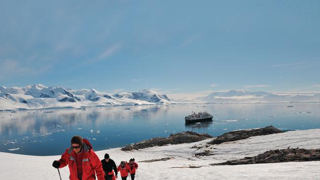 Passengers from a Silversea Antarctic Expedition Explore Antarctica