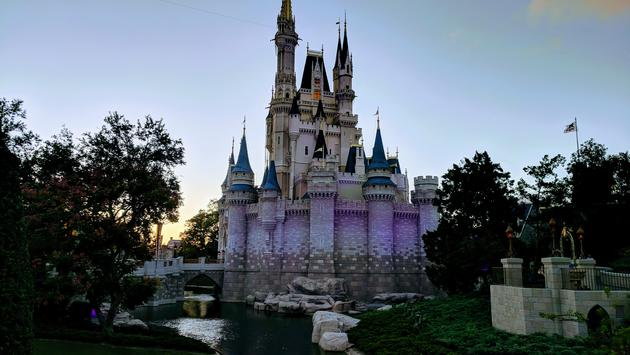 Cinderella's Castle at Sunset in Magic Kingdom at Walt Disney World