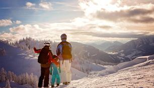 Family at a ski resort