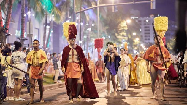 Waikiki Hoolaulea street party