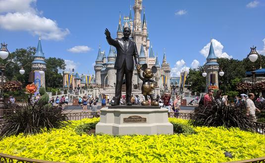 Partners Statues - Walt Disney & Mickey Mouse at Magic Kingdom