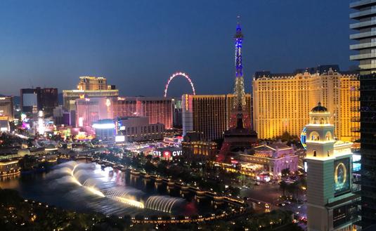 Las Vegas Strip viewed from The Cosmopolitan