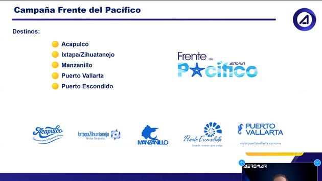 """Cinco destinos conforman el """"Frente del Pacífico"""" para reactivar el turismo"""
