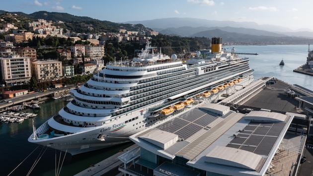 The new Costa Firenze in the Port of Savona, Italy.