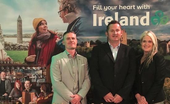 Ciaran Doherty, Stakeholder Liason Northern Ireland, John Higgins, directeur des operations, Giants Causeway National Trust, Dana Welch de Tourisme Irlande Canada