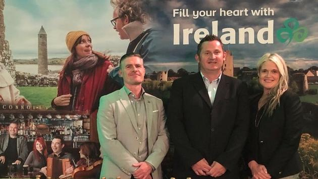 Ciaran Doherty, Stakeholder Liason Northern Ireland, John Higgins, directeur des operations, Giants Causeway National Trust, Dana Welch de Tourisme Irlande Canada