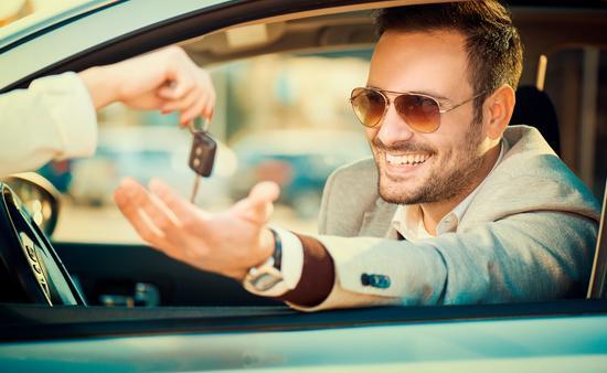 car, rental, keys
