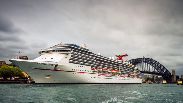 Carnival Spirit cruise ship in Sydney, Australia