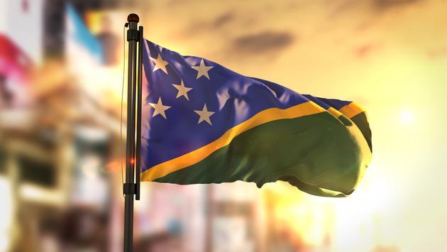 Flag of the Solomon Islands.