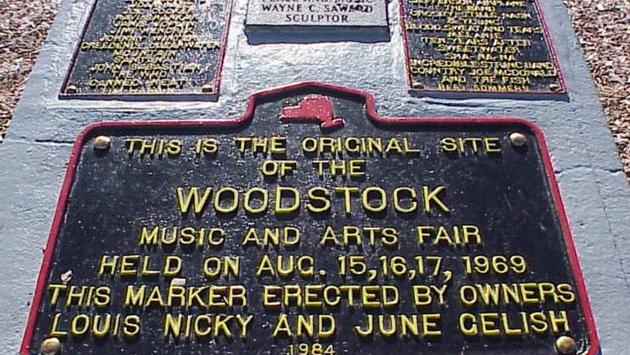 The first Woodstock was held on a dairy farm in the Catskill Mountains, northwest of New York City