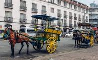 Ride a kalesa or horse-drawn carriage in Manila