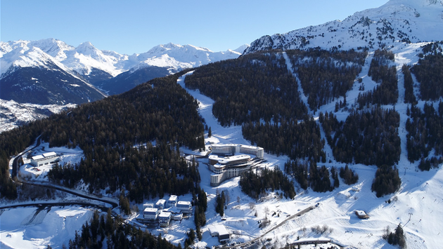 Club Med Les Arcs Panorama aerial view