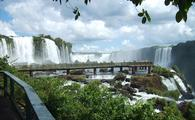 Iguazu Falls, on the border of Brazil and Argentina