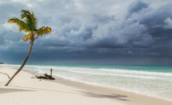A tropical storm approaching Mexico