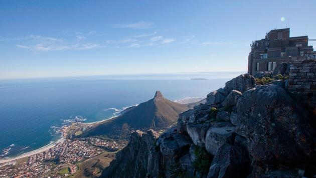 South Africa Cape Town Table Mountain Shoreline Vista
