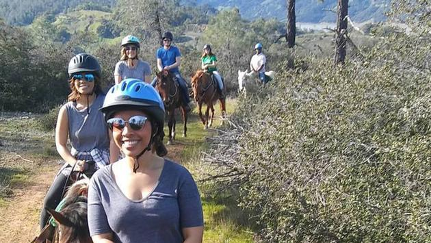 Horseback riding is offered at The Ranch at Lake Sonoma.
