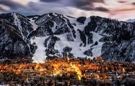 Overlooking Aspen, Colorado during the winter