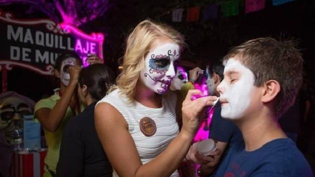 Face Painting at Sandos During Day of the Dead