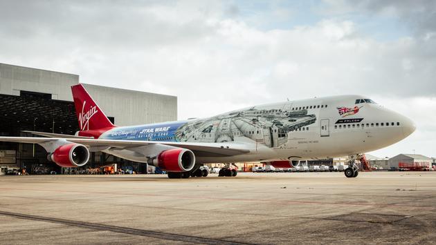 Virgin Atlantic's The Falcon, Star Wars themed plane