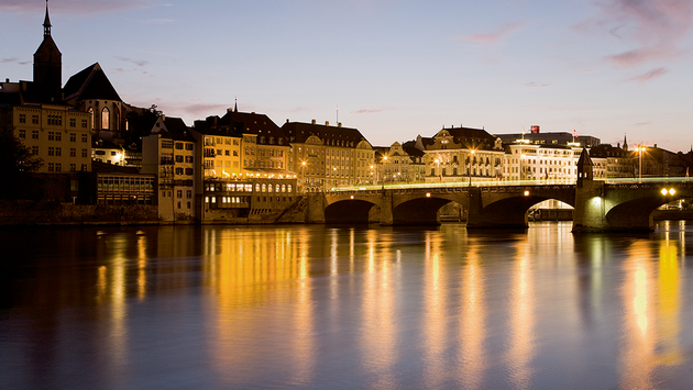Rhine River in Basel