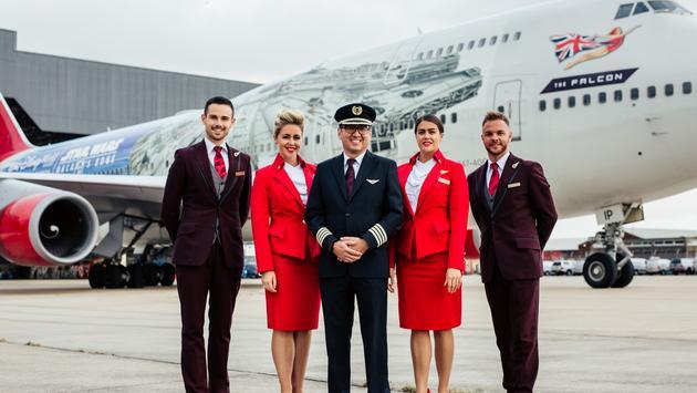 Virgin Atlantic's The Falcon with Crew