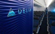 Delta Aircraft interior (Photo via Delta)