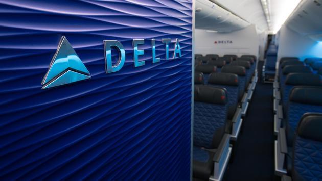 Delta Aircraft interior (Photo via Delta)