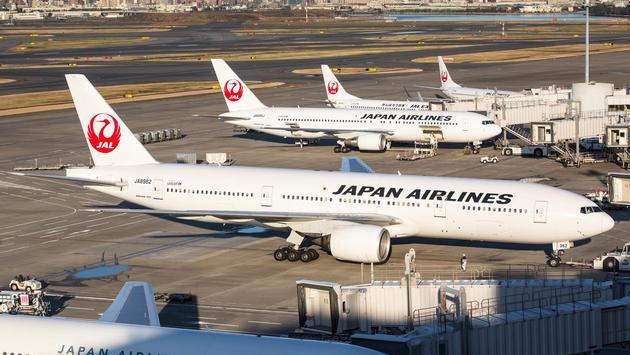 Japan Airlines planes at Tokyo's Haneda Airport