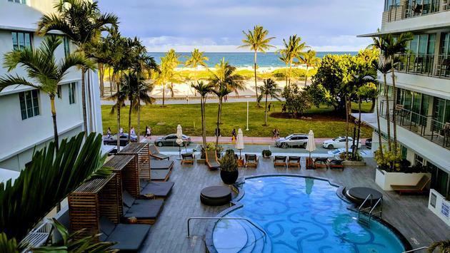 Pool Area of Hotel Victor, South Beach, Miami, FL
