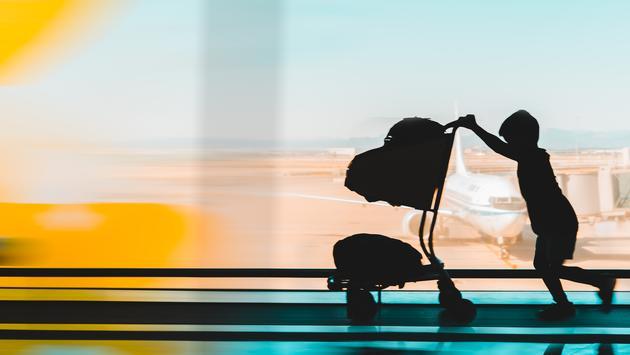 kid, airport, minor, child, airplane