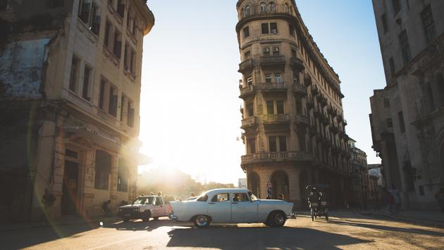 Golden hour in Havana, in what remains of its Chinatown