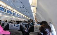 Inside the cabin of a GoAir flight