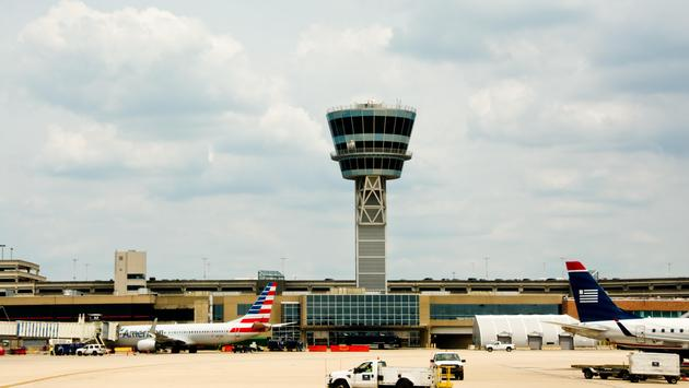 A control tower at Philadelphia International Airport